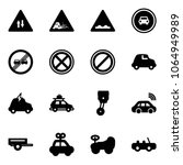 solid vector icon set  ... | Shutterstock .eps vector #1064949989