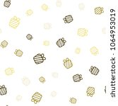 seamless pattern with chaotic... | Shutterstock .eps vector #1064953019