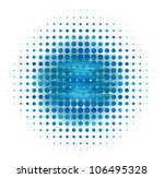 watercolor perforated circle | Shutterstock . vector #106495328