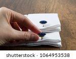 cufflinks with shirt on the... | Shutterstock . vector #1064953538