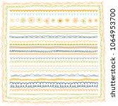 borders  ribbons  frames set.... | Shutterstock .eps vector #1064953700