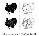 meat cuts. poster butcher...   Shutterstock .eps vector #1064961680