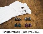 cufflinks with shirt on the... | Shutterstock . vector #1064962568
