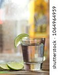 alcohol shot glass  tequila or... | Shutterstock . vector #1064964959