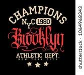 new york city sport wear...   Shutterstock .eps vector #1064968343
