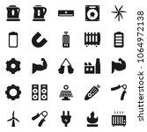 flat vector icon set   kettle... | Shutterstock .eps vector #1064972138
