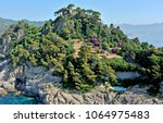 the sapphire blue sea of the...   Shutterstock . vector #1064975483