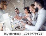 young business people... | Shutterstock . vector #1064979623