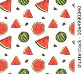 seamless pattern with... | Shutterstock .eps vector #1064980340