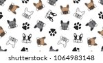 dog seamless pattern french... | Shutterstock .eps vector #1064983148