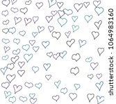 hand drawn hearts. background.  ... | Shutterstock .eps vector #1064983160