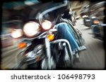 Abstract Slow Motion  Bikers...
