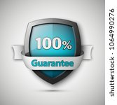 100  guarantee guard shield... | Shutterstock .eps vector #1064990276