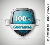 100  guarantee guard shield... | Shutterstock .eps vector #1064990276