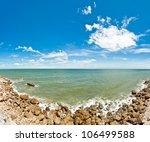Sea panorama at thailand - stock photo