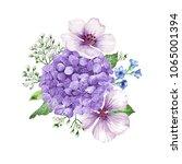 bouquet of flowers  apple tree...   Shutterstock .eps vector #1065001394