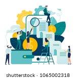 vector business illustration on ... | Shutterstock .eps vector #1065002318
