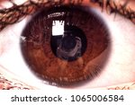 Female Open Brown Eyes With...