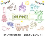 line art style of philippine... | Shutterstock .eps vector #1065011474