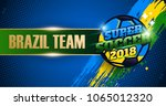 brazil team banner for football ... | Shutterstock .eps vector #1065012320
