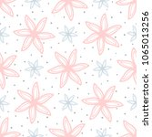 cute floral seamless pattern.... | Shutterstock .eps vector #1065013256