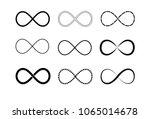 infinity symbol logos set.... | Shutterstock .eps vector #1065014678