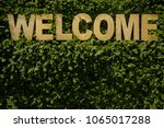 welcome. inscription ''welcome''... | Shutterstock . vector #1065017288