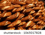 turkish bagel simit with sesame ... | Shutterstock . vector #1065017828