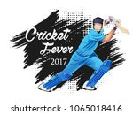 concept of sportsman playing... | Shutterstock .eps vector #1065018416