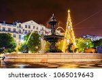 christmas on lisbon s streets | Shutterstock . vector #1065019643