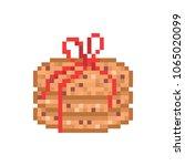 3 chocolate oatmeal cookies... | Shutterstock .eps vector #1065020099