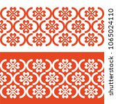 seamless pattern with abstract... | Shutterstock .eps vector #1065024110