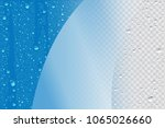 vector blue wet realistic... | Shutterstock .eps vector #1065026660