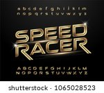 technology alphabet golden... | Shutterstock .eps vector #1065028523