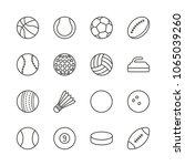sports balls set icon vector....