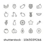 fruit set icon vector. outline... | Shutterstock .eps vector #1065039266