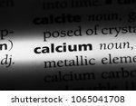 calcium word in a dictionary.... | Shutterstock . vector #1065041708