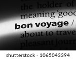 bon voyage word in a dictionary.... | Shutterstock . vector #1065043394