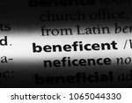 Small photo of beneficent word in a dictionary. beneficent concept.