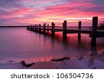 Small photo of Landing Stage at Morning Light, sunrise