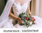 beautiful wedding bouquet in...   Shutterstock . vector #1065047849