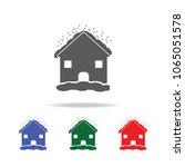 house in hailstorm con  mobile  ...   Shutterstock .eps vector #1065051578