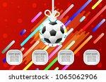 football logo design graphics... | Shutterstock .eps vector #1065062906