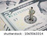 miniature businessman leader... | Shutterstock . vector #1065063314