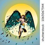 icarus greek myth   Shutterstock .eps vector #1065067544