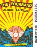 album launch poster flyer... | Shutterstock .eps vector #1065068930