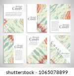 vector abstract background set. ... | Shutterstock .eps vector #1065078899