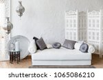 interior of white room in... | Shutterstock . vector #1065086210