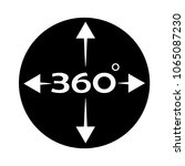 angle 360 degree icon on white... | Shutterstock .eps vector #1065087230
