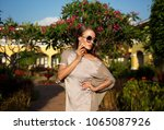 beautiful  elegant girl  model... | Shutterstock . vector #1065087926